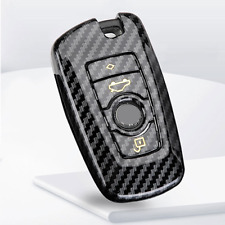 Fit For BMW F20 F30 F31 Remote Carbon Fiber Style Smart Key Fob Case Shell Cover