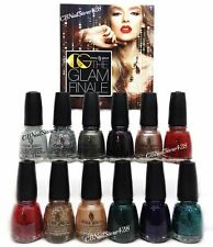 China Glaze NL-GLAM FINALE HOLIDAY '17 Collection -12pcx0.5oz (1577-1588)