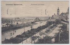 25468) Ostseebad Swinemünde Promenade und Strand 1914 gelaufen