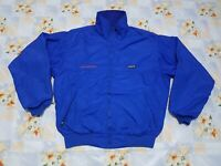 vtg Patagonia jacket bomber made in Usa Fleece Lining size M blue