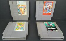 (4) Nintendo Games American Gladiators California Games Track & Field II Tennis