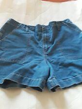 Gloria vanderbilt women jean shorts size 14 color blue medium wash w33 by L4 ins