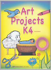 Abeka Preschool K4 Art Projects Curriculum Book Paperback Lessons PARTIAL