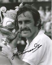 Hand Signed 8x10 photo  - JOHN NEWCOMBE - WIMBLEDON TENNIS CHAMPION + my COA
