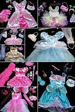 HUGE LOT Disney PRINCESS DRESS UP CLOTHES Size 4-6x, Fairy, Barbie, Belle, Ariel