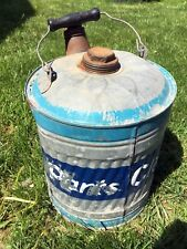 Vintage OLD IRONSIDES 5 Gallon #125 Galvanized Metal Gas Can Kerosene