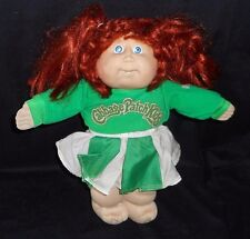VINTAGE 1982 CABBAGE PATCH KIDS LONG RED CHEERLEADER STUFFED ANIMAL PLUSH TOY