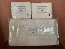 Pottery Barn Washed Velvet Silk Diamond Blend Quilt Full Queen/2 Standard Shams