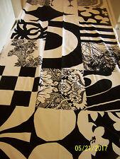 """Marimekko Fabric - YHDESSA - 104"""" x 57"""" - 1 full repeat - Black & White"""