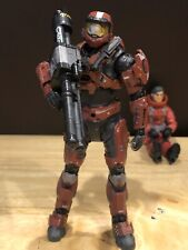 Mcfarlane Halo 3 Reach Video Game Action Figure Red Spartan Mark Vi W/ Rockets