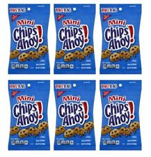 911950 6 x 85g BIG BAGS OF MINI CHIPS AHOY CHOCOLATE CHIP COOKIES SNACKS