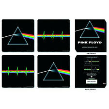 Pink Floyd 4 Piece Drink Bar Coaster Set: Mixed designs *OFFICIAL LICENSED*
