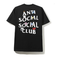 Anti Social Social Club x BT21 'Peekaboo' Cartoon Black ASSC T-shirt