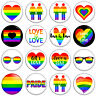 GAY PRIDE 25mm & 37mm Pin Badges Buttons RAINBOW LESBIAN TRANS EQUALITY LGBT+