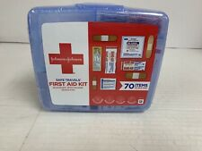 Johnson Johnson Red Cross Portable Travel First Aid Kit 70 Item Plastic Case NEW