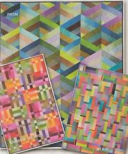 Strip it Three Ways Ombre - pieced quilts PATTERN - 3 designs - Nancy Rink
