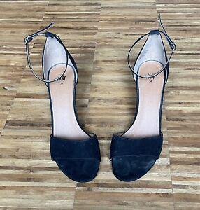 H&M Wedges High Heels Pumps Sandalen Schwarz Größe 38