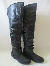 GENERATION BLACK KNEE HIGHT FLAT BOOTS SIZE 8 1/2 - NEW