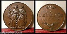 1831 Rare Médaille Bronze Pologne Héroique par Barre Poland