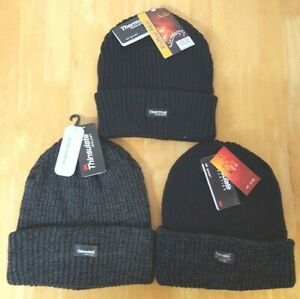 MEN'S THINSULAT THERMAL WARM FLEECE LINED CHUNKY WINTER HATS HIKING OUTDOORS(62)