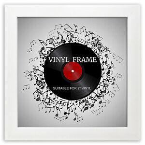 "Oxford 7"" Vinyl Single Music Record Frame Square White Memorabilia Wall Display"
