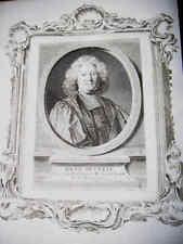 PORTRAIT XVIIIe - RENE PUCELLE  CONSEILLER PARIS 1777 *