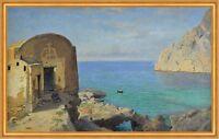 Marina Piccola, Capri William Stanley Haseltine Insel Kreuz Kapelle B A2 03527