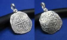 Bezel Free Atocha Shipwreck Coin Reproduction with Shackle Bail Nautical Pendant