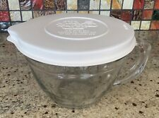 Pampered Chef Small Batter Bowl 2233 Glass White Lid 1 Quart 4 Cups Retired