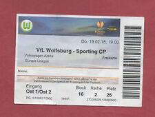Orig.Ticket  Europa League  14/15  VfL WOLFSBURG - SPORTING LISSABON  !!  SELTEN