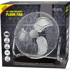 "18"" Chrome High Velocity Electric Cooling Fan 3 Speed Free Standing Gym Fan New"