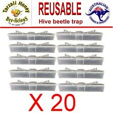 HIVE BEETLE   REUSABLE TRAPS x 20  BEEKEEPING  APIARY    - Protects Bee Hives