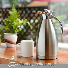 NEW! 2L Thermal Vacuum Carafe Insulated Coffee Carafe Dual Stainless Steel Pot