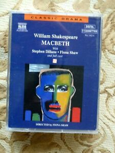 WILLIAM SHAKESPEARE - MACBETH     - AUDIO BOOKS - TALKING BOOKS   ( 3 CASSETTES)