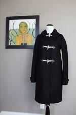 NWT J Crew Tall Wool Melton Toggle Coat in BLACK Sz 6 Tall 6T E1021 $375