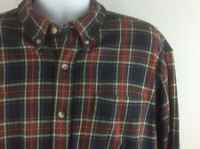 RedHead Mens Shirt Long Sleeve Button Front Plaid Pattern Size XL