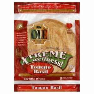Ole Mexican Foods Extreme Wellness Tortilla Wrap, Tomato Basil, 8ct, 12.7-Ounce