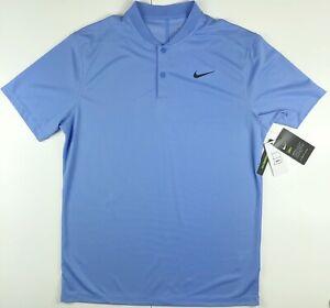 Nike Victory Blade Blue Dri Fit Golf Polo Shirt BV6235-478 Medium