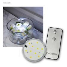 LED Unterwasserkerze Wasserkerze mit Fernbedienung 10 LED weiß, Wasser Kerze NEU