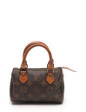 LOUIS VUITTON mini speedy monogram handbags PVC leather brown