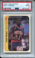 1986 Fleer Basketball Sticker #10 Isiah Thomas Rookie Card RC Graded PSA MINT 9