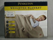 "Pendleton Micro Beads Weighted Blanket 48""x72"" Anxiety Stress Relief 15lbs Beige"