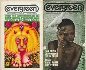 EVERGREEN REVIEW  #95 FALL 1972 and # 96 SPRING 1973 in vg condition RARE & OOP