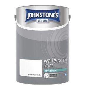 Johnstone's Soft Sheen Paint 5L - Brilliant White Interior Walls & Ceilings