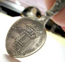 "St Paul Minnesota Capitol Sterling Silver 4"" Souvenir Spoon MN"