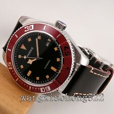 43mm Parnis black dial sapphire glass Ceramic bezel Automatic mens Watch 547