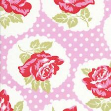 FQ - LULU ROSE - PINK  with DOTS COTTON FABRIC