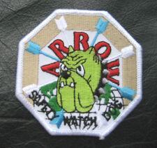 ARROW SECURITY EMBROIDERED SEW ON PATCH SAFETY WATCH DOG UNIFORM BADGE EMBLEM