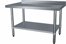 """1200mm Wide Stainless Steel Wall Bench. 48"""" x 24"""" Lowest UK Price"""