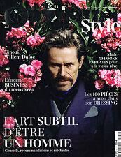 French L'OPTIMUM STYLE Magazine #47 WILLEM DAFOE Daniel de la Falaise @NEW@